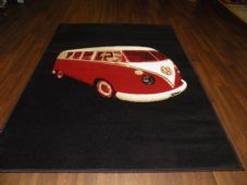 Modern Aprox 6x4 115x1165cm Woven Camper van vw Sale Top Quality Black/Red rugs